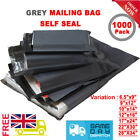 Strong Grey Mailing Bags Poly Post Self Seal Parcel Postal Postage Shipping Bag