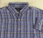 Polo Ralph Lauren Long Sleeve Plaid Linen Shirt w/ Button Down Collar  $145 NWT