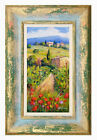 Внешний вид - BETWEEN THE VINEYARD TUSCANY LANDSCAPE OIL ORIGINAL PAINTING BRUNO CHIRICI ITALY