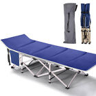 Folding Cot Bed Camping Support 880lbs Tent w/Mattress 2Layer Cloth for Hunting