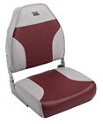 Wise Standard High Back Boat Seat Grey/Red 21.00 x 17.00 x 21.25 In