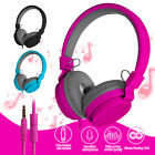 Adjustable Foldable Kid Girl Wired Headset Over Ear Stereo Bass Headphone w/Mic