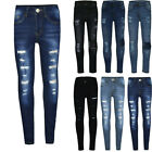 3-14 Years Old Children's Fashion Tight Hole Pocket Button Zipper Long Jeans