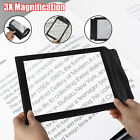 3X Magnifier Reading Sheet Aid Big Lens Large Glass Magnifying A4 Full Page PVC