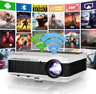 HD LED WiFi Projector 1080p Android 6.0 Multimedia Game BT4.0 Movie Netflix HDMI