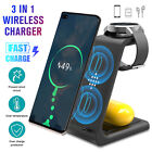 3 in1 QI Wireless Charger Charging Dock Station For Apple Watch/ iPhone 12 X XS