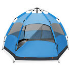 Waterproof Automatic 5-6 People Outdoor Instant Popup Tent Camping Hiking +Pad