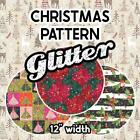 """Christmas Patterned Glitter PGHTV  13.33"""" ROLL **FREE SHIPPING**"""