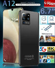 """2021 Aus New A12 6.7""""smart Phone Android 10.0 10-core 5600 Mah 3gb+32gb Mtk6799"""