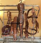Antique Finish Leather Driving harness for single horse cart-Natural/Brown