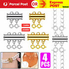 4pcs Multi Strand Necklace Detangler Untangling Layered Necklace Clasp Spacer