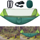 Double Person Outdoor Travel Camping Tent Hanging Hammock With Mosquito Net New