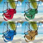 Outdoor Hanging Hammock Rope Chair Porch Swing Seat With Carry Bag Cup Holder