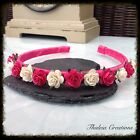 ROSE FLOWER ALICEBAND TIARA* Wedding Hair Accessories*Bridesmaid*Flowergirl*Boho