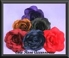 NEW LARGE SOFT SILK ROSE FLOWER CORSAGE FASCINATOR CLIP