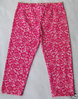 NWT FOREVER ORCHID Pink Floral Cropped Girls Pants