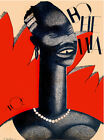 """119.Cuban Quality Design travel poster""""African Tribal Woman.Long Neck""""Wall Decor"""