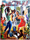 """345.Cuban Quality Design poster""""Neighbors in Colorful Solar in Cuba""""."""
