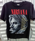 NIRVANA 'A TRIBUTE TO KURT COBAIN' MEN'S BLACK T-SHIRT