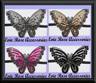 NEW HUGE SEQUIN BUTTERFLY APPLIQUE FORE HEAD HAIR BAND