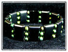 Triple Magnetic Bracelet with Metallic Beads..6.5 to 11