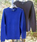 LE Navy Cobalt 100% Cotton Crewneck Sweater Top 1X LP