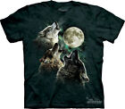 NEW THREE WOLF MOON Howling Wolves The Mountain T Shirt Howling Adult Sizes
