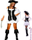 4 Piece PU Leather Pirate Ladies Fancy Dress Costume