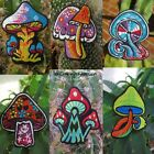 AUFNÄHER PATCH goa psy hippie elfen Pilz mushrooms om 1