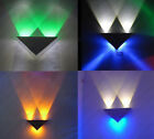 Triangle LED Wall Sconces Light Fixture Bedroom Porch Bar Hall Pub Modern Lamp