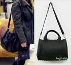 celebrity style Stud Studded Bottom Duffel Tote Bag