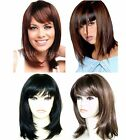 Ladies Short Medium Wig Faceframe Black Blonde Brown Red Ladies Fashion Wigs