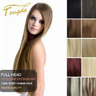 """Tengda Clip In Remy 100% Real Human Hair Extensions 15"""" 16"""" 18"""" 20"""" 26"""" 28"""" 30"""""""