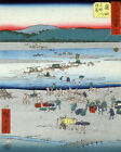 1521 Asian. Construction by the beach vintage POSTER. Oriental Decorative Art