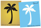 Beach STENCIL Palm Tree Hawaii Tropical Home Decor Nautical Tiki Tattoo Wall Art