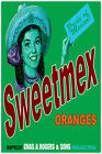 3000.Sweetmex Oranges, pride of Mexico POSTER.Green Home decor interior room art