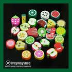100 Pcs Nail Art DIY mixed fimo Polymer Clay Spacer Beads Hole 6mm 10mm new