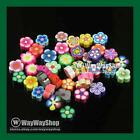 100 Pcs Nail Art DIY mixed fimo Polymer Clay Spacer Beads Hole 6mm 10mm 3