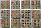 Hampton Art  Rubber Stamp Set Typewriter ALPHABET Letters  set of 30 stamps