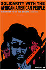 3162.Solidarity with African American Black Panthers POSTER.Wall Decorative Art.