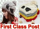 Womens Girls EXTRA WARM Hand Knit Beanie Beret Hat Cap