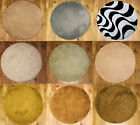 NEW CIRCLE DESIGN LUXURIOUS SOFT NON SHEDDING WOOL RUGS 80X80CM
