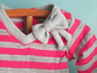 Sale!! Pink/Gray STRIPED KNIT V-NECK Long-Sleeved TEE with BOW fits merican Girl