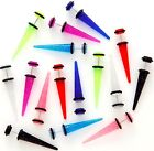 New GLITTER Fake Ear Taper Expander Cheater Stretcher Plug CHOOSE COLOUR