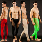 Men's Low Rise Sexy Mesh Long Underwear Thermal Sheer Runner WJ602 Multicolor