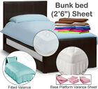 "Bunk Bed Size sheets in a variety of pastel colours -  2'6"" 2ft6 2foot6 2feet6"