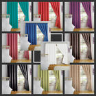 NEW LIGHT REDUCING PLAIN SEMI BLOCK OUT THERMAL BACKED LINED PAIR OF CURTAINS