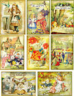 Vintage inspired Alice in Wonderland assorted small cards tags ATC altered art 8