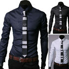 Trendy Button Downs Mens Stylish Slim Fit Long Sleeve Casual Shirts