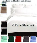 6 PIECE LUXURY COMFORT ULTRA SOFT SERIES DEEP POCKET WRINKLE FREE BED SHEET SET